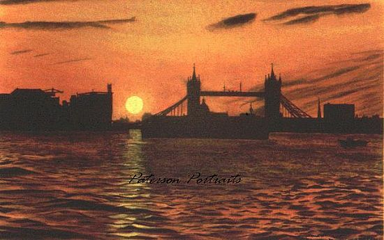 tower bridge sunset by david paterson