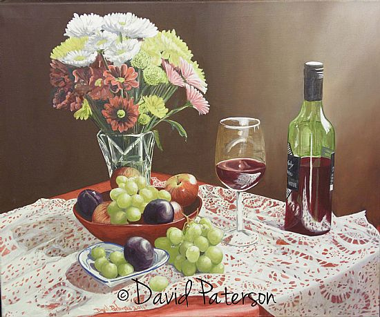 still life oil painting by david paterson
