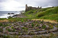 labyrinth and castle dunure, ayrshire