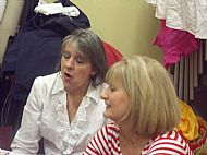 Chorus Members Babs and Carin take a well-earned rest.