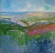 Ebbing tide Brancaster Staithe marsh