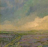 Rain clouds rising over the saltmarsh, Stiffkey