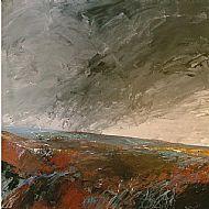Storm passing Brancaster marsh Norfolk