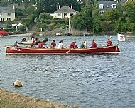 Gig rowing in Mylor Creek