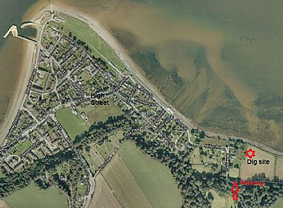 map of cromarty showing the location of the site