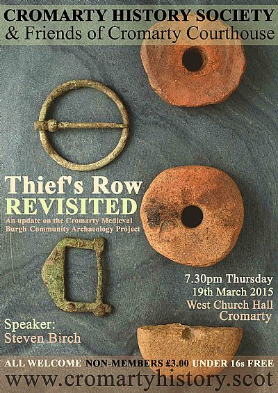 poster for talk to cromarty history society