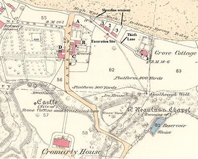 1880 map showing thief's lane