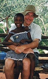 John and friend on Uganda trip 2008