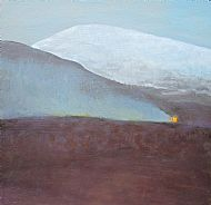 Snow Mountain with Burning Heather (Meall Cuaich)