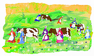 Eight Maids-a-Milking