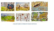 Two Sets Endangered Species of British Birds and Mammals  Tablemats