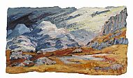 Lochan in the Limestone Hills, 37cm x 54cm, mixed media, £540