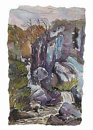 Where the Deer Cross, mixed media, 56cm x 34cm, £450