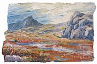 High in the Limestone Hills, 49cm x 74cm, £750