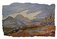Lochan in the Limestone Hills, mixed media, 37cm x 54cm, £580