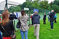 Opening day at the new Cromarty tennis court
