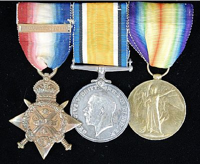 great war mons trio of medals awarded to pte frank brailsford ramc
