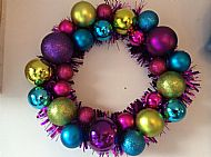 Christmas Bauble Wreath