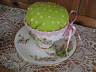 Tea cup pin cushion £7.99