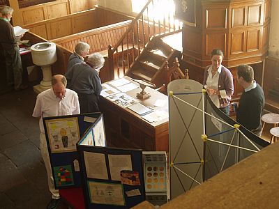 volunteers run an open day at the east church, cromarty