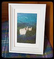 Sheep Grazing in Heather