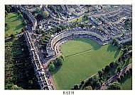 The Royal Crescent - aerial view