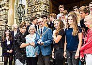 Mayor with Alkmaar student visitors