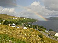 Rainbow over Carbost