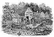 Bewick's Engraving of a farmyard