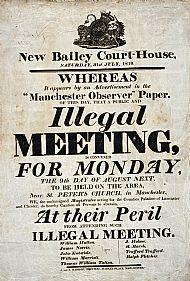 Peterloo Warning Poster