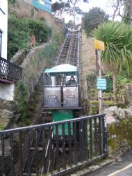 Lynmouth's famous hydro lift