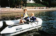 Children in a dinghy