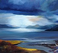South Loch Ness, Oil on canvas 70x70cm