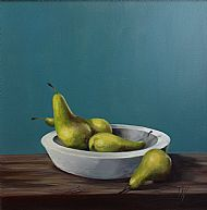 Pears, Oil on canvas 50x50cm