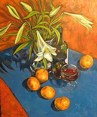 Still life with lilies, Oil on canvas 60x40cm