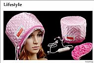 TOMTOCE Pink Hair Thermal Treatment Beauty Steamer SPA Cap Hair Care Nourishing