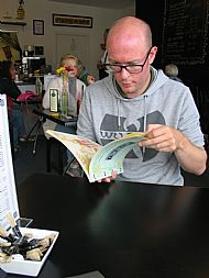 Gareth reading the Annual