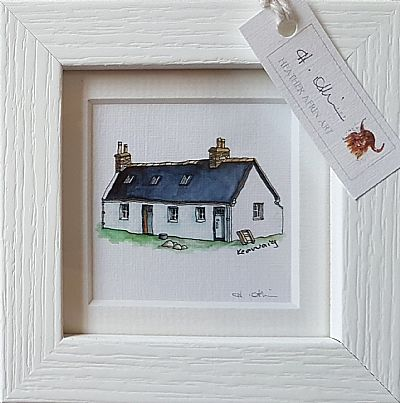 small framed mountain bothy print