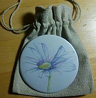 Handbag Mirror and Pouch - Daisy