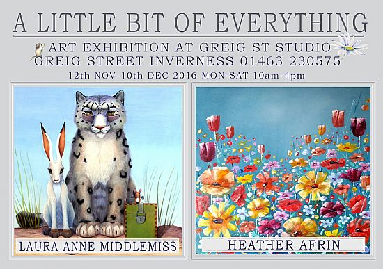 exhibition flyer - heather afrin + laura anne middlemiss