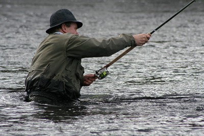 salmon fishing on the river conon