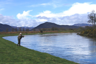 salmon fishing on the river conon, lower fairburn fishings