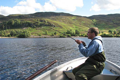 brown trout fishing on the river conon, loch meig