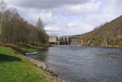 salmon fishing on the river conon, upper fairburn fishings