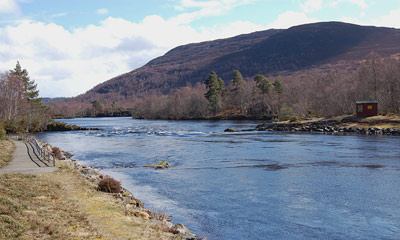 salmon fishing on the river conon, loch achonachie angling club fishings, upper conon