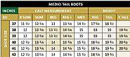 Medici Tall Boot Field Size Chart
