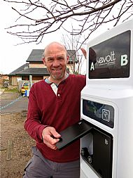 Neil presenting the charging point
