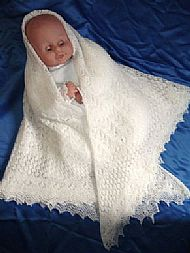 1 Ply Wedding/Christening Shawl