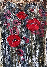Drizzled Poppies
