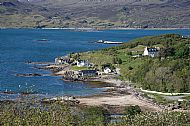 The village of Ord from the road to Tokavaig